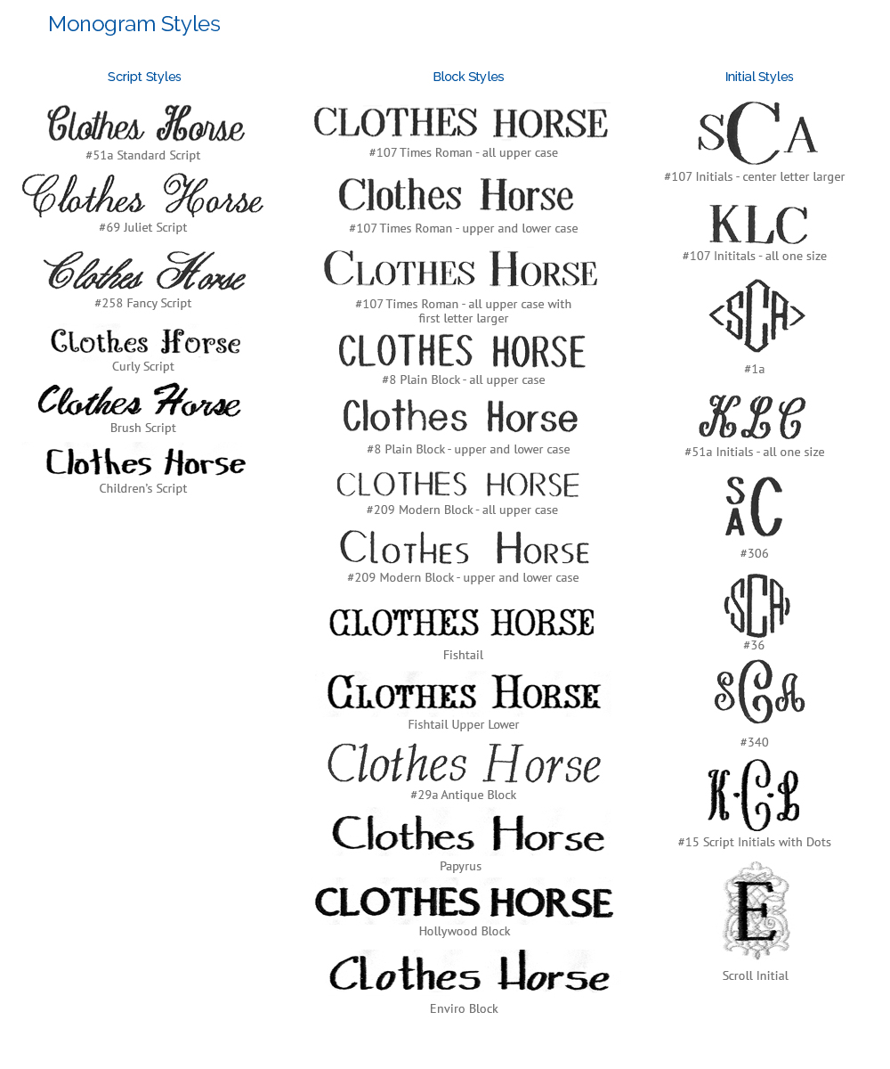 Monogram Styles The Clothes Horse