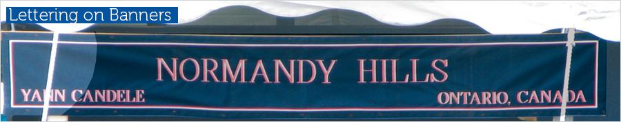 Lettering on Banners Slide
